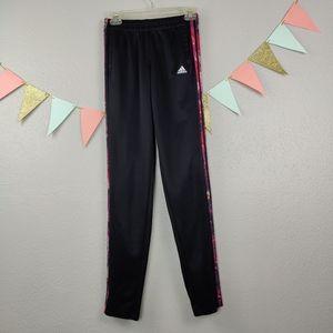 Adidas 3 Stripe Track Pants w/Pockets Zip Ankles